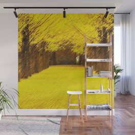 Gingko Biloba Autumn Leaves Landscape Painting by Jéanpaul Ferro Wall Mural
