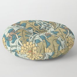 Art Nouveau Dandelion Pattern Floor Pillow