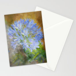 Agapanthus in Blue Stationery Cards