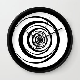 Black White Circles Optical Illusion Wall Clock