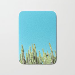 Desert Cactus Reaching for the Blue Sky Bath Mat