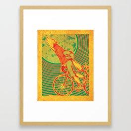Bike Wolf Framed Art Print