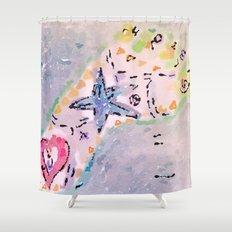 summer footprint Shower Curtain