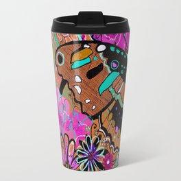 Neon Butterflies Travel Mug