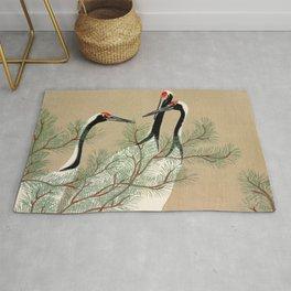 Kamisaka Sekka - Cranes from Momoyogusa Rug