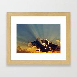 The Rays Framed Art Print