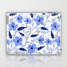 Floral pattern on a white background Laptop & iPad Skin