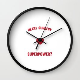 I Survived Open Heart Surgery Recovery For Patients Wall Clock