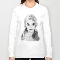 cara delevingne Long Sleeve T-shirts featuring Cara Delevingne by sunshinegirldraws