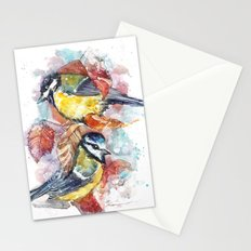 winter titmouse Stationery Cards