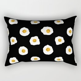 eggs breakfast food fight apparel and gifts black Rectangular Pillow