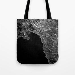 Melbourne Black Map Tote Bag
