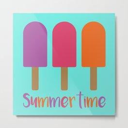 Bright Tasty Summertime Ice Cream Lollies Metal Print