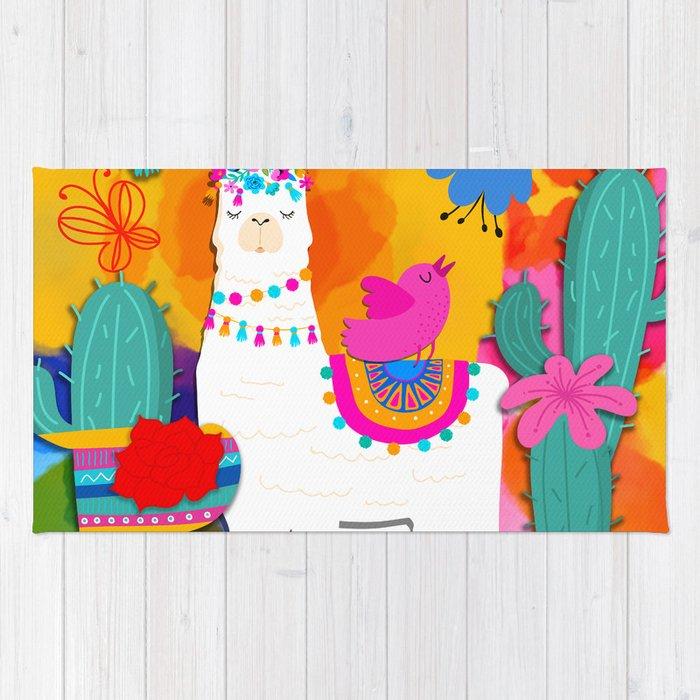 Fiesta Llama Rug