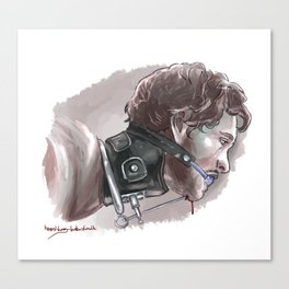 Will Graham in a collar Canvas Print