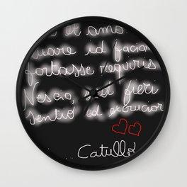 Latin Poetry Wall Clock