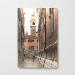 living in Venice 2  Venitian street life simply Metal Print