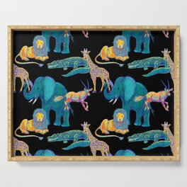 African Animals Serving Tray