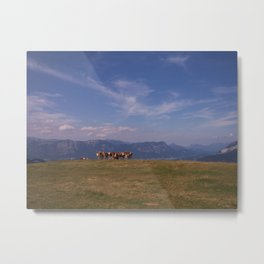 Austrian Cows Metal Print