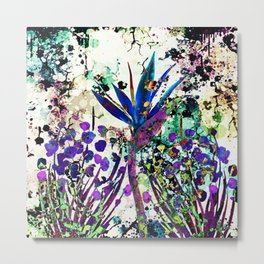 abstract background with flowers Metal Print