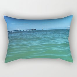 Blue Sky at Clearwater Dock Rectangular Pillow