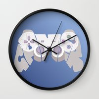 gamer Wall Clocks featuring Gamer by pokegirl93