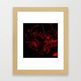 Blood Roads At Night Framed Art Print