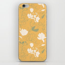 Magnolia flowers iPhone Skin