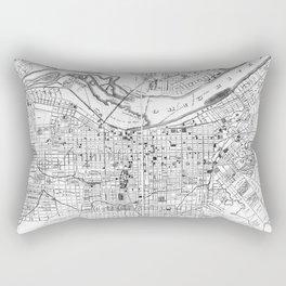 Vintage Map of Louisville Kentucky (1873) BW Rectangular Pillow