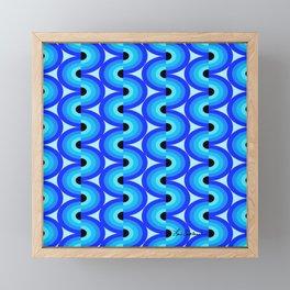 Blue Waves Framed Mini Art Print