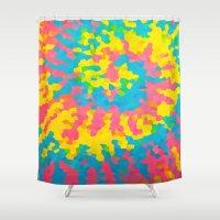 tie dye Shower Curtains featuring Tie Dye by Jillian Stanton