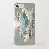 cartoon iPhone & iPod Cases featuring Ocean Meets Sky by Terry Fan