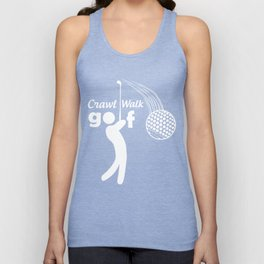 Crawl Walk Golf Unisex Tank Top
