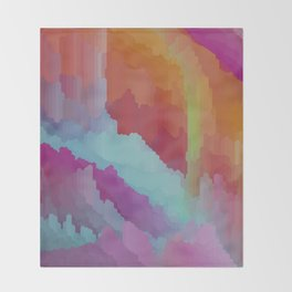 Crystal cave dreamscape Throw Blanket