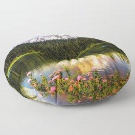 Mt. Rainier, Reflection Lake Floor Pillow