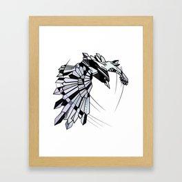 Geometric Raven Framed Art Print