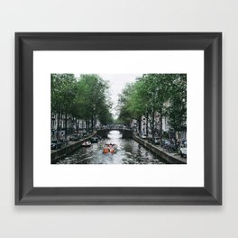 Canal Cruise Framed Art Print