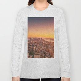 New York City Sunset Skyline Long Sleeve T-shirt
