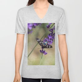 Amata Phagea on lavender Unisex V-Neck