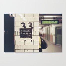 33rd Street & The Bronx Canvas Print