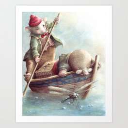 Friendship - The Wind in the Willows Art Print
