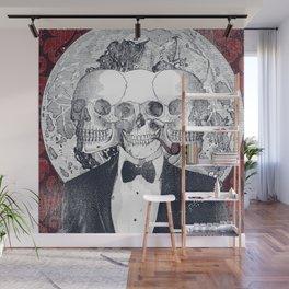 THREE-HEADED SKULL Wall Mural