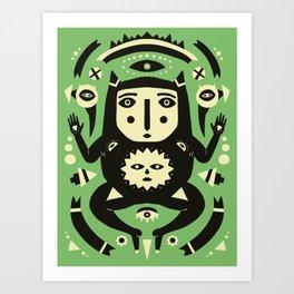 Half Frog Half Man Art Print