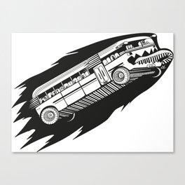 Fast bus Canvas Print