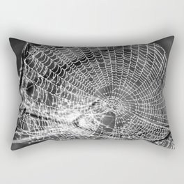 Raindrop Covered Spiderweb Rectangular Pillow