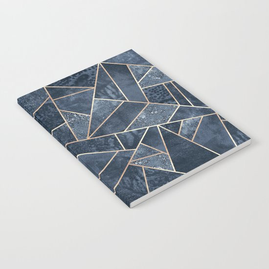 Soft Dark Blue Stone Notebook