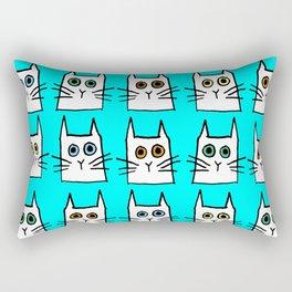 cat eyes- aqua Rectangular Pillow