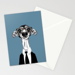Greyhound in suit Stationery Cards