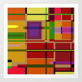 PIXEL MAP Art Print