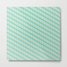 Green Pattern Metal Print